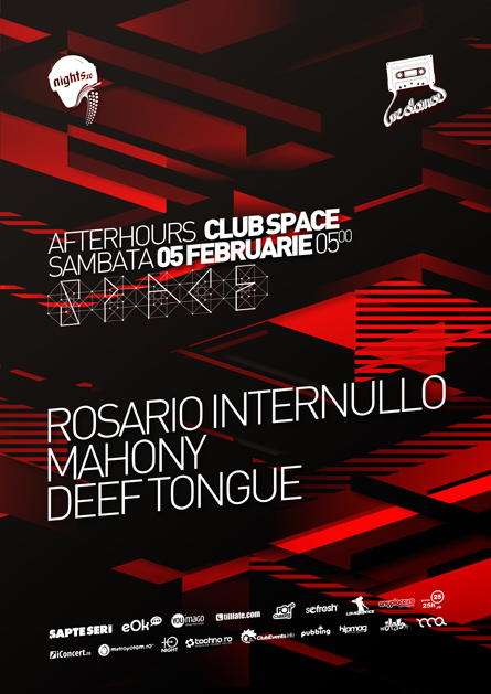 nights.ro awards 2011 - afterhours artwork - poster and flyer design - club space - rosario internullo, mahony, deef tongue