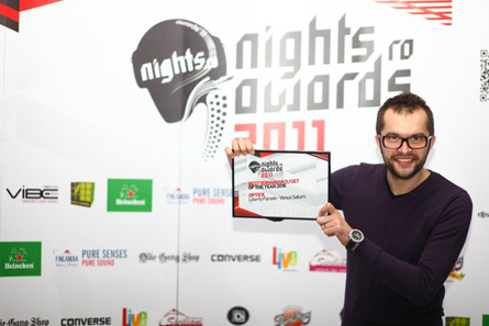 nights.ro awards 2011 - best romanian dj in 2010 - dj optick with diploma
