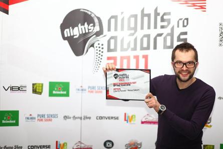 nights.ro awards 2011 - best romanian dj in 2010 - dj optick with diploma