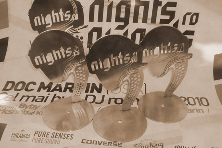 nights.ro awards 2011 - poster and trophies