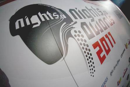 nights.ro awards 2011 - logo pop-up wall spider