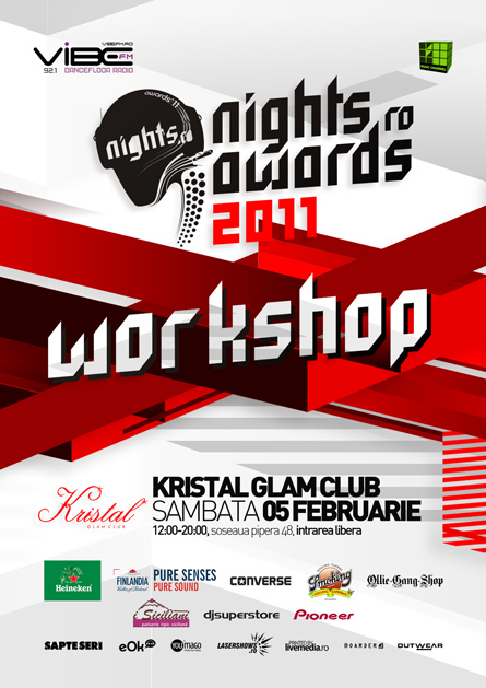 nights.ro awards 2011 - workshop artwork - poster and flyer design