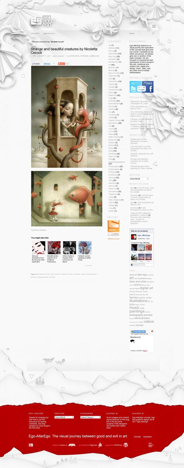 ego-alterego.com website layout