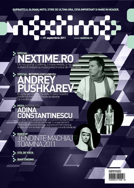 nextime magazine cover design by alex tass - nocturn.ro