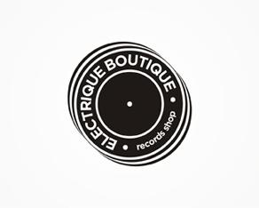 Electrique Boutique - records shop - logo design