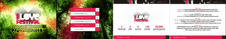 I Love Festival - electronic and alternative music festival - Ellen Allien, Kevin Saunderson, Ed Rush, Sebastien Leger, Industrialyzer, Slyde, Deekline, Chris Simmonds - posters, flyers, identity materials design