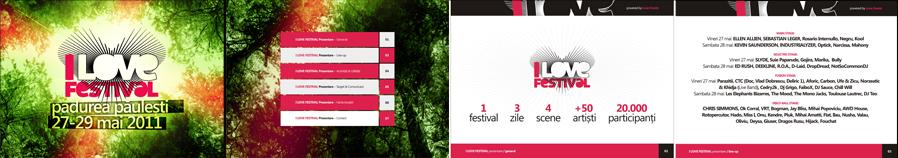 I Love Festival - electronic and alternative music festival - Ellen Allien, Kevin Saunderson, Ed Rush, Sebastien Leger, Industrialyzer, Slyde, Deekline, Chris Simmonds - posters, flyers, identity materials design