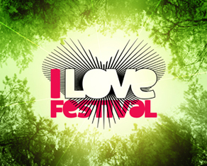 I Love Festival - Romanian electronic and alternative music festival logo and identity design