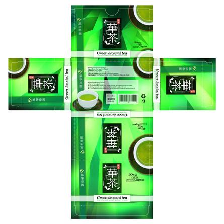 Japanese green decocted tea - packaging - Warpstyle / Crenative JP - Fuji Printing LTD JP