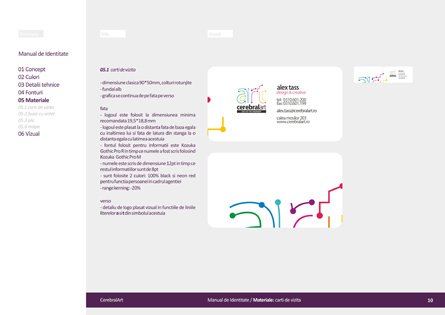 Branding, visual manual, brand guidelines, branding guidelines for advertising agency CerebralArt