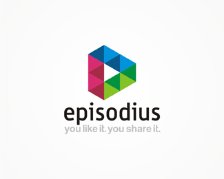 episodius, online, video, marketing, advertising, agency, advertising agency, triangle, geometric, colorful, logo, logos, logo design by Alex Tass