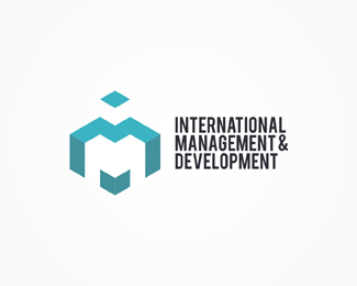 International Management and Development, international, management, development, real estate, housing, geometric, abstract, colorful, logos, logo design by Alex Tass