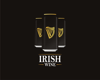 Irish, Ireland, Eire, wine, wines, joke, can, Guinness, beer, package, packaging, logo, logos, logo design by Alex Tass