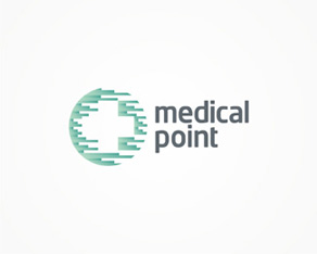 Medical Point, medical beauty, esthetical, aesthetic medicine, cosmetic, medicine, medical, health, beauty, distribution, company, logo, logos, logo design by Alex Tass