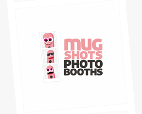 Mugshots Photobooths, Australia, photo booths, photo-booths with attendant, instant filmstrip, instant, pictures, photography, corporate, private, function, logo, logos, logo design by Alex Tass