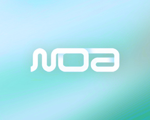 noa, glam, electronic music, club, lounge, venue, logotype, word mark, logo, logos, logo design by Alex Tass
