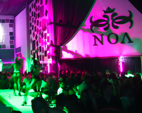 NOA, electronic music, glam, club, lounge, venue, logo, logos, logo design by Alex Tass
