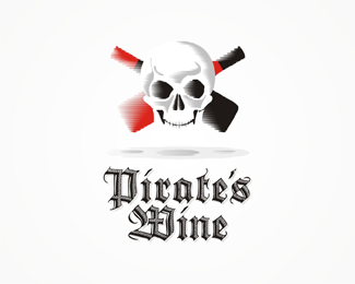 corsair, pirate, pirates, skull, wine, wines, wax, seal, logo, logos, logo design by Alex Tass