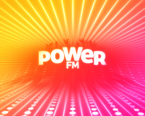 Power FM, electronic music, online radio, logo, logos, logo design by Alex Tass