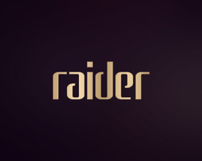 Raider, Norge, Norway, clubbing, electronic, rave, music, events, organizer, purple, gold, logo, logos, logo design by Alex Tass