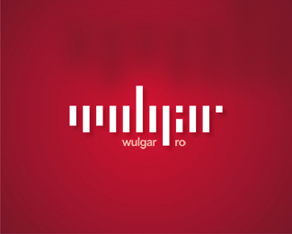 wulgar, vulgar, typographic, middle, finger, attitude, blog, logo, logos, logo design by Alex Tass